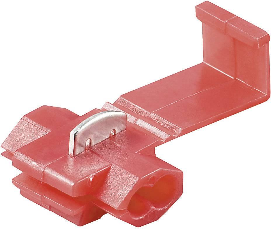 Rýchlospojka Wentronic KV 6, 17015, 0,5 - 1 mm², 1pólová, červená