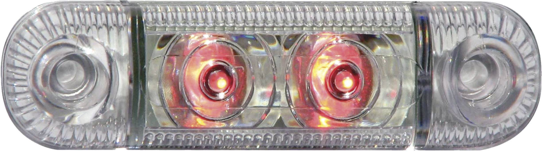 LED boční obrysové světlo, krátké, červené
