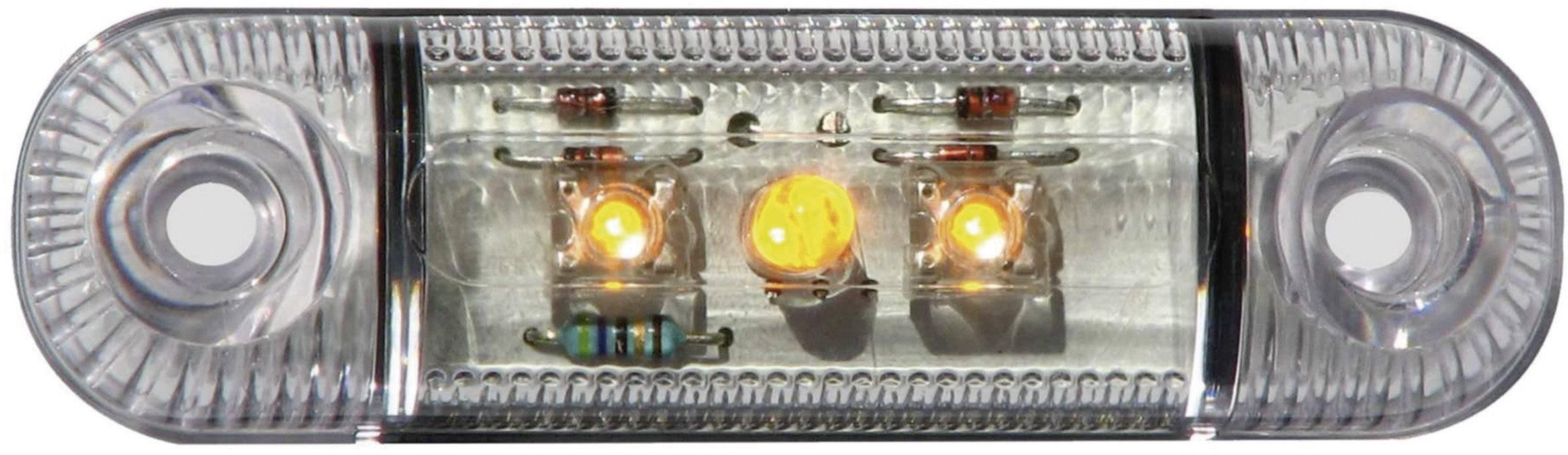 LED boční obrysové světlo, krátké, oranžové