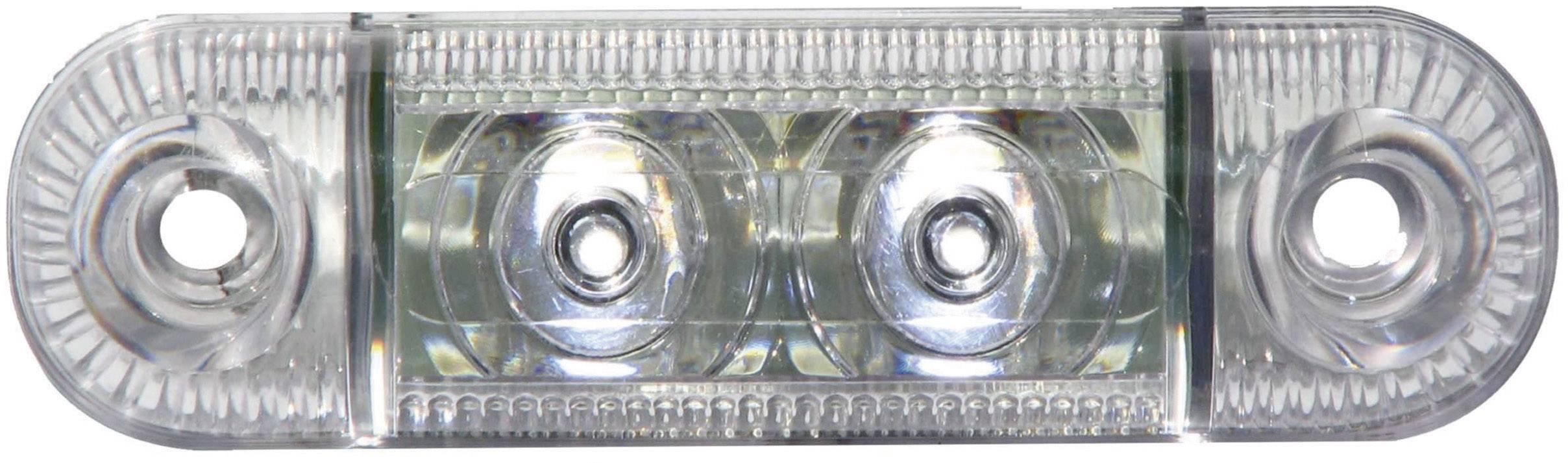 LED boční obrysové světlo, krátké, bílé