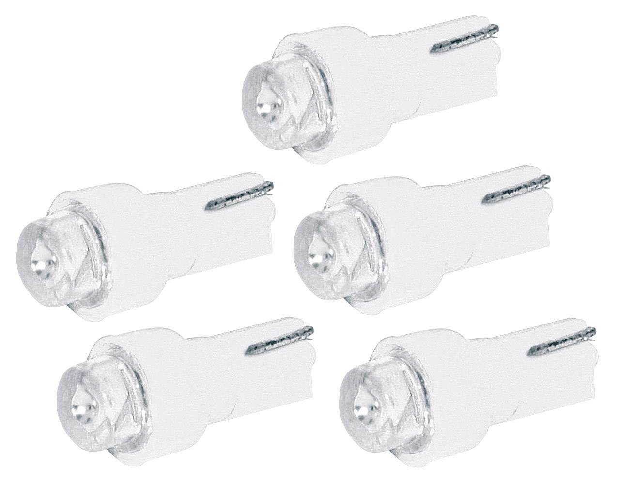 LED žárovka pro osvětlení přístrojů Eufab, 13293, 1,2 W, T5, bílá, 5ks