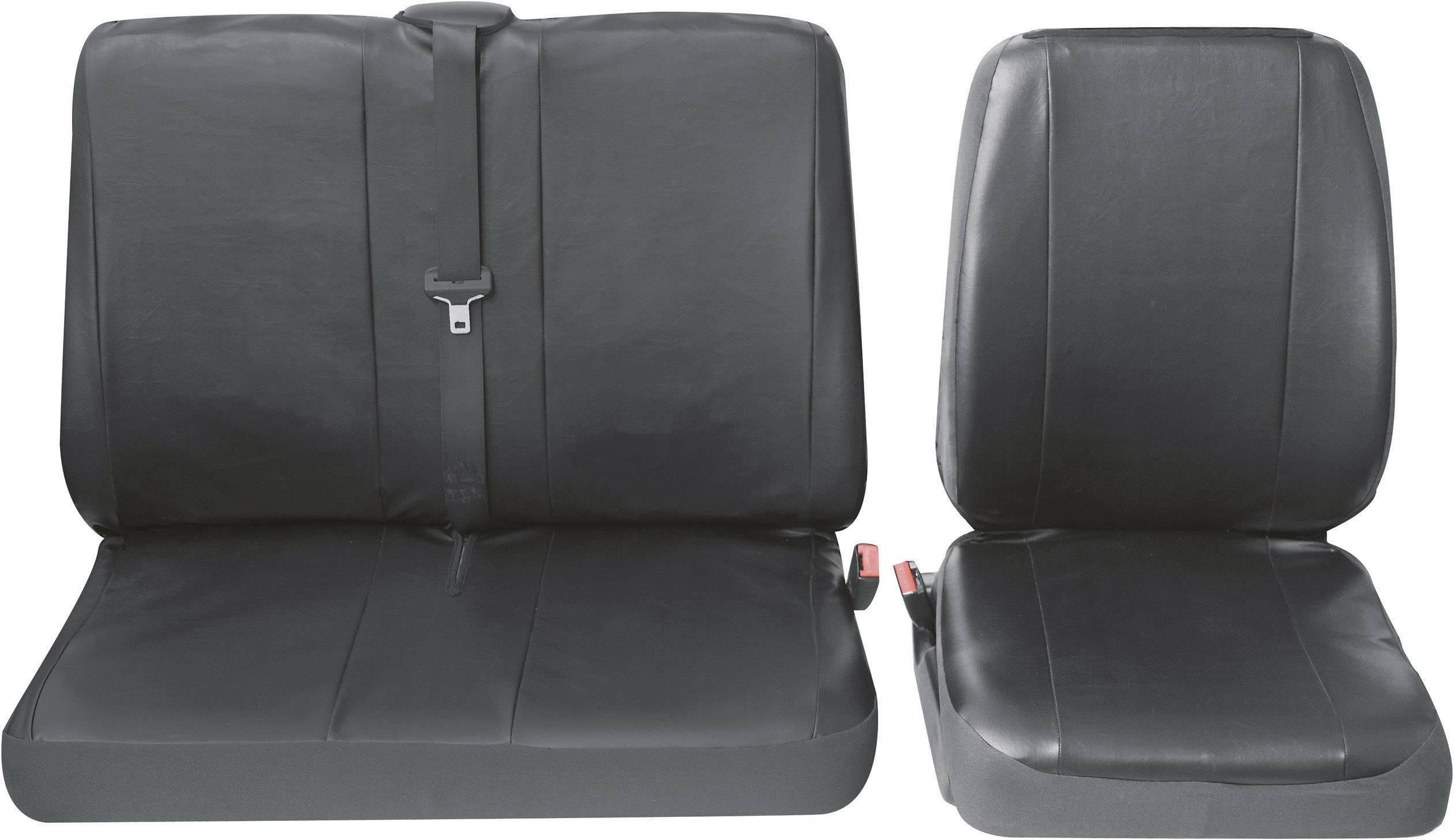 Autopoťahy Petex Profi 4 30071904, 4-dielna, umelá koža, čierna