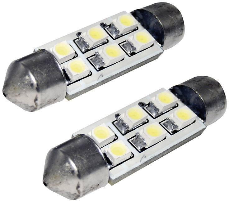SMD LED sufitka Eufab, 13294, 1 W, S8.5, 36 mm, bílá, 2 ks