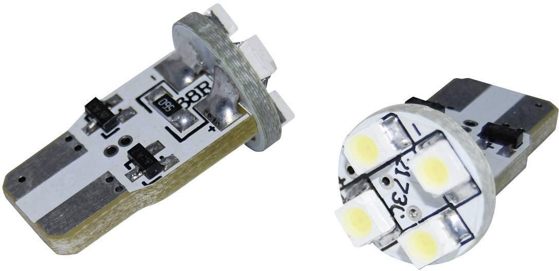 Žárovka Eufab SMD-LED T10, se 4 LED, bílá
