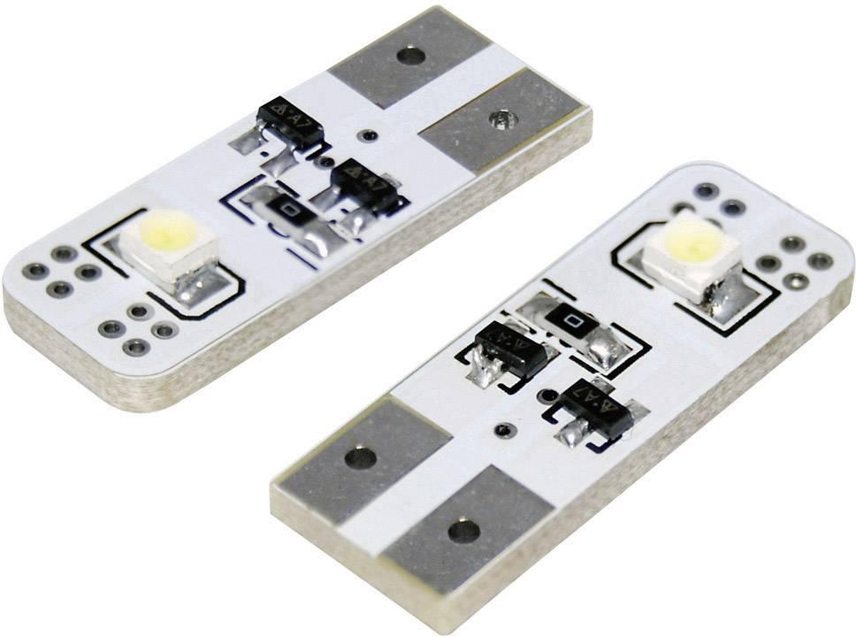 Žárovka Eufab SMD-LED T10, se 2 LED, bílá