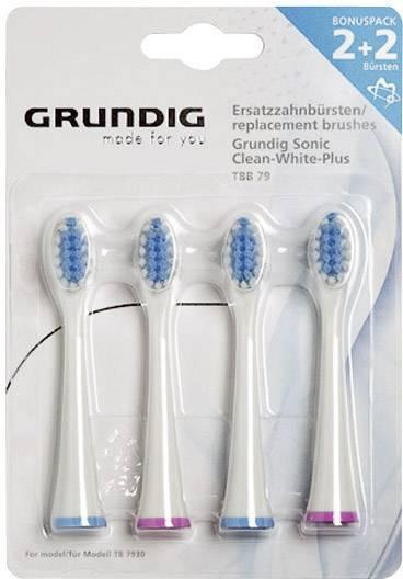 Náhradné hlavice na zubné kefky Grundig, 4 ks