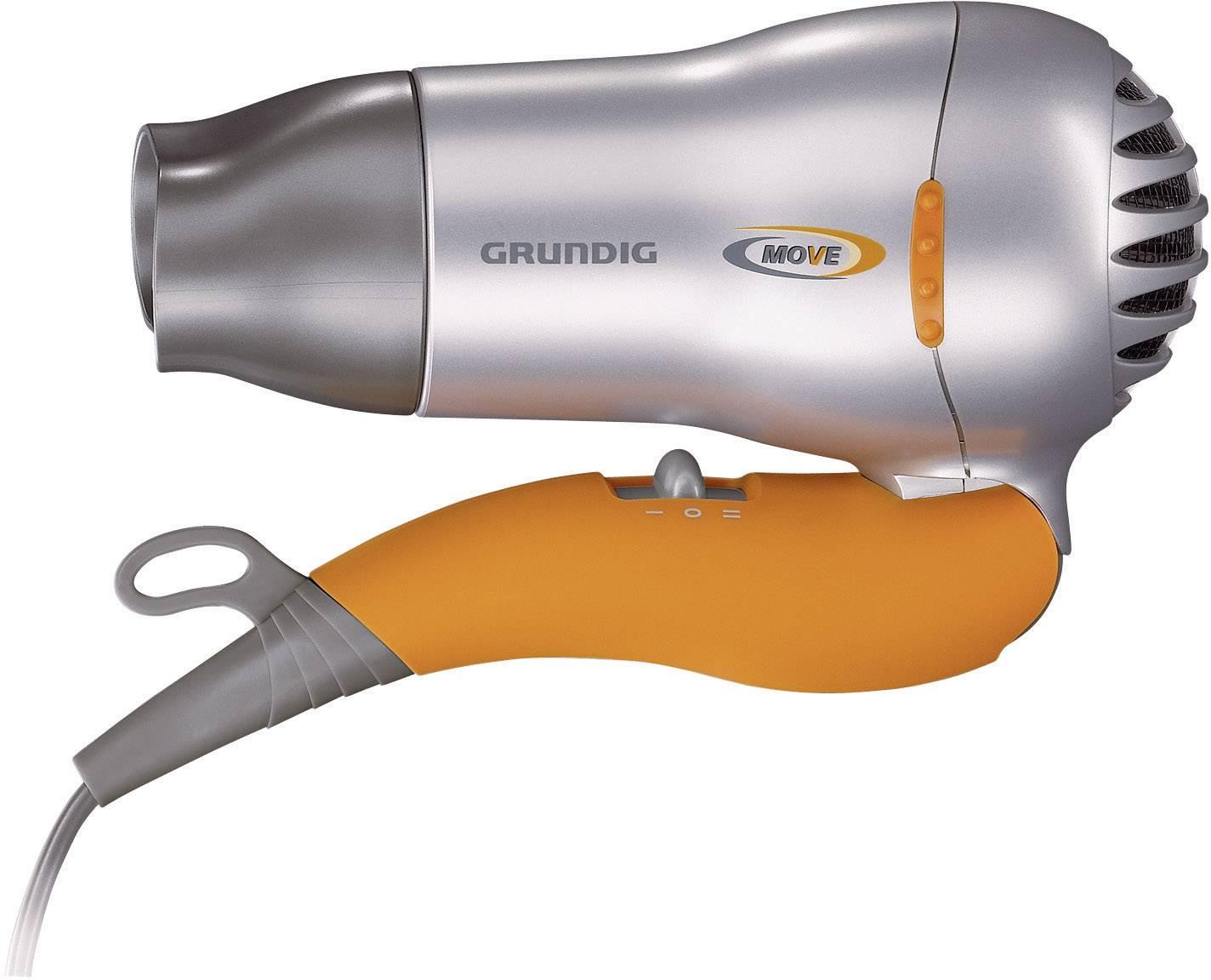 Fén na vlasy Grundig GMK8600, 1500 W, stříbrná, oranžová