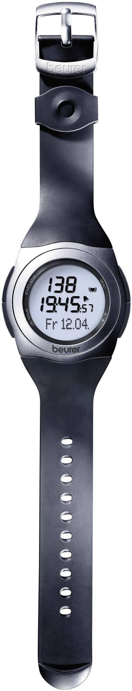 Hodinky s meraním tepovej frekvencie (športtester), vr. hrudného pásu Beurer PM 25, čiernosivá
