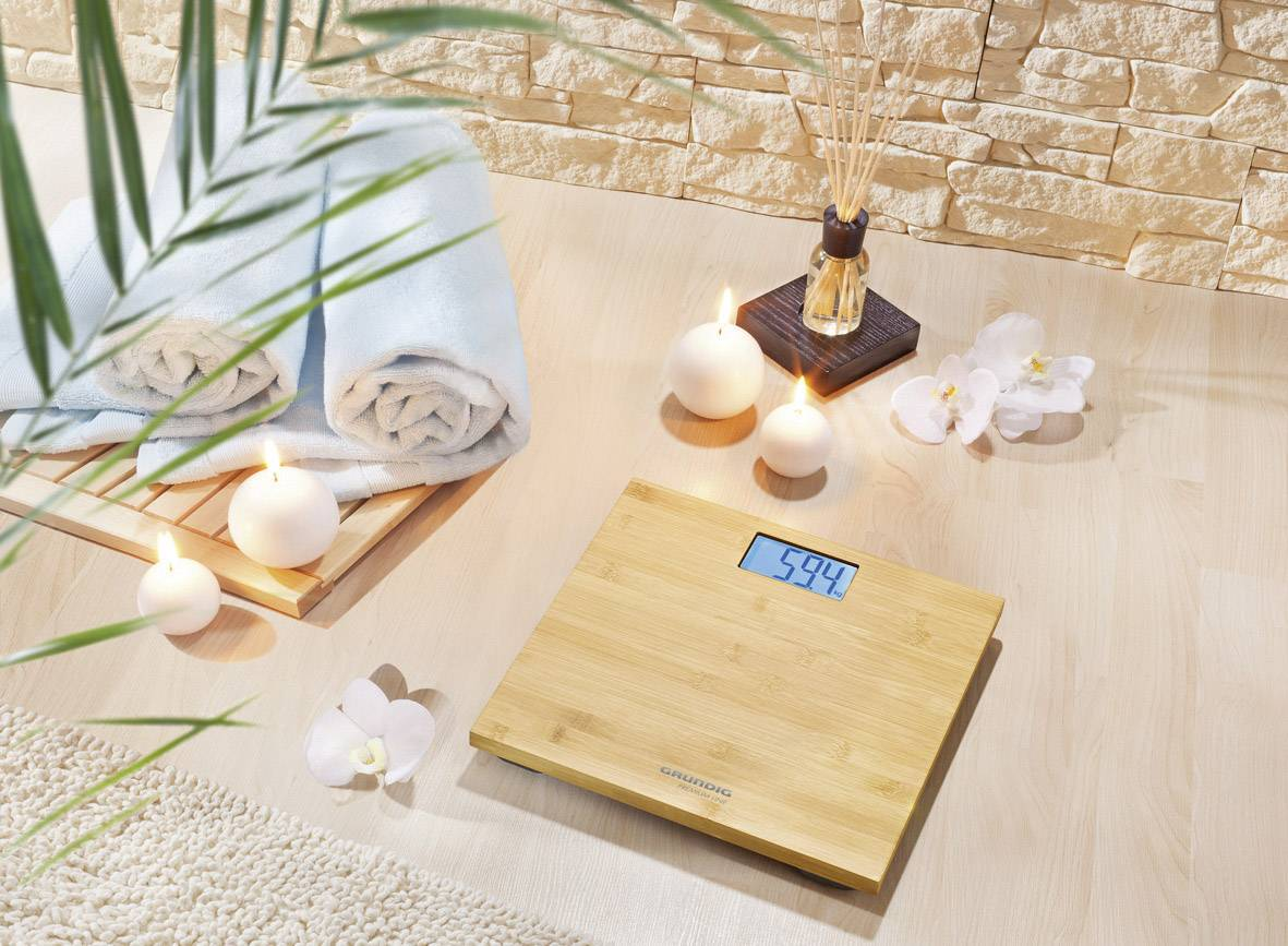 Digitálna osobná váha Grundig PS4110, bambusová