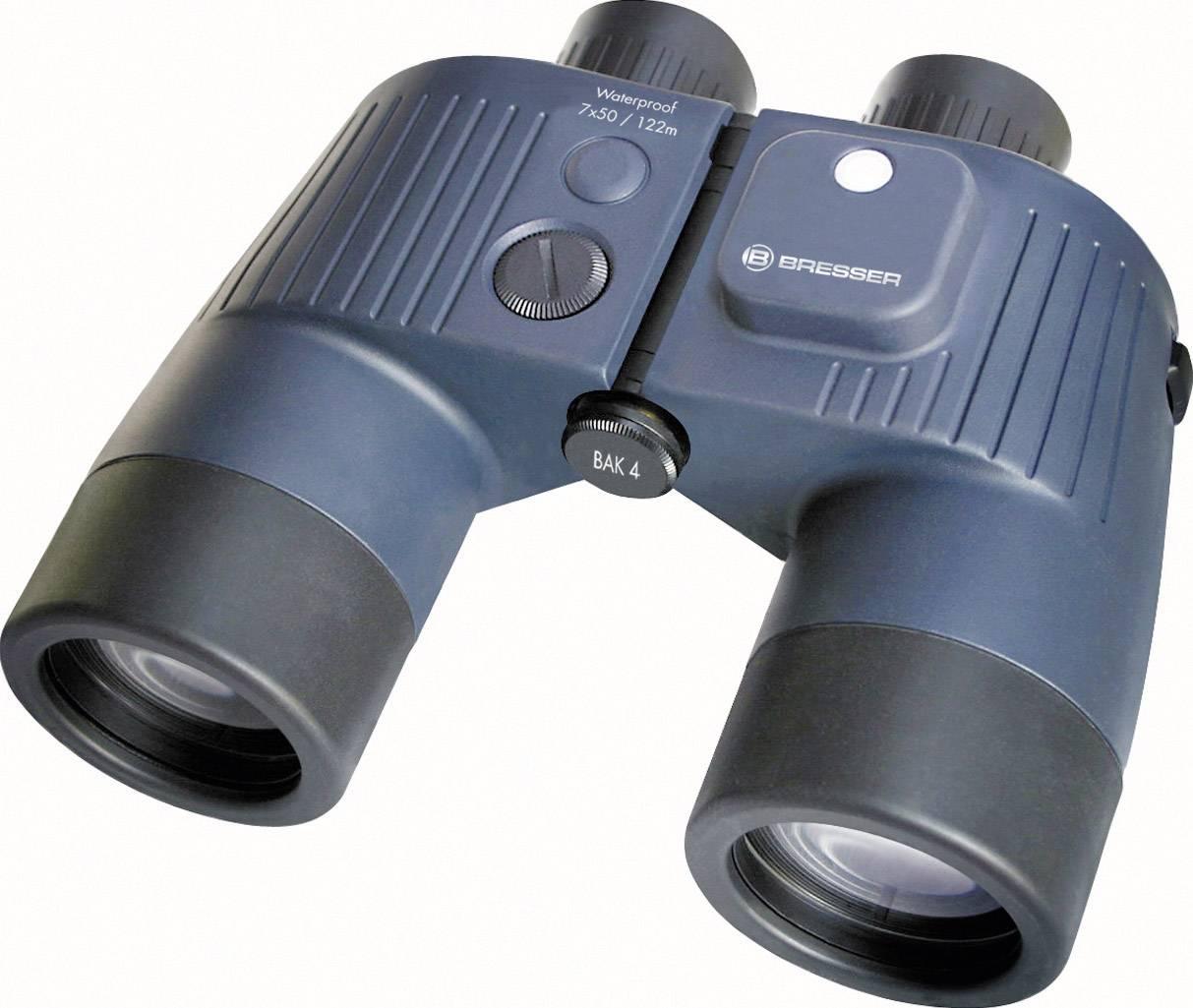 Námornícky ďalekohľad Bresser Optik Binocom GAL 1866805, 7 x 50 mm, čierna/modrá