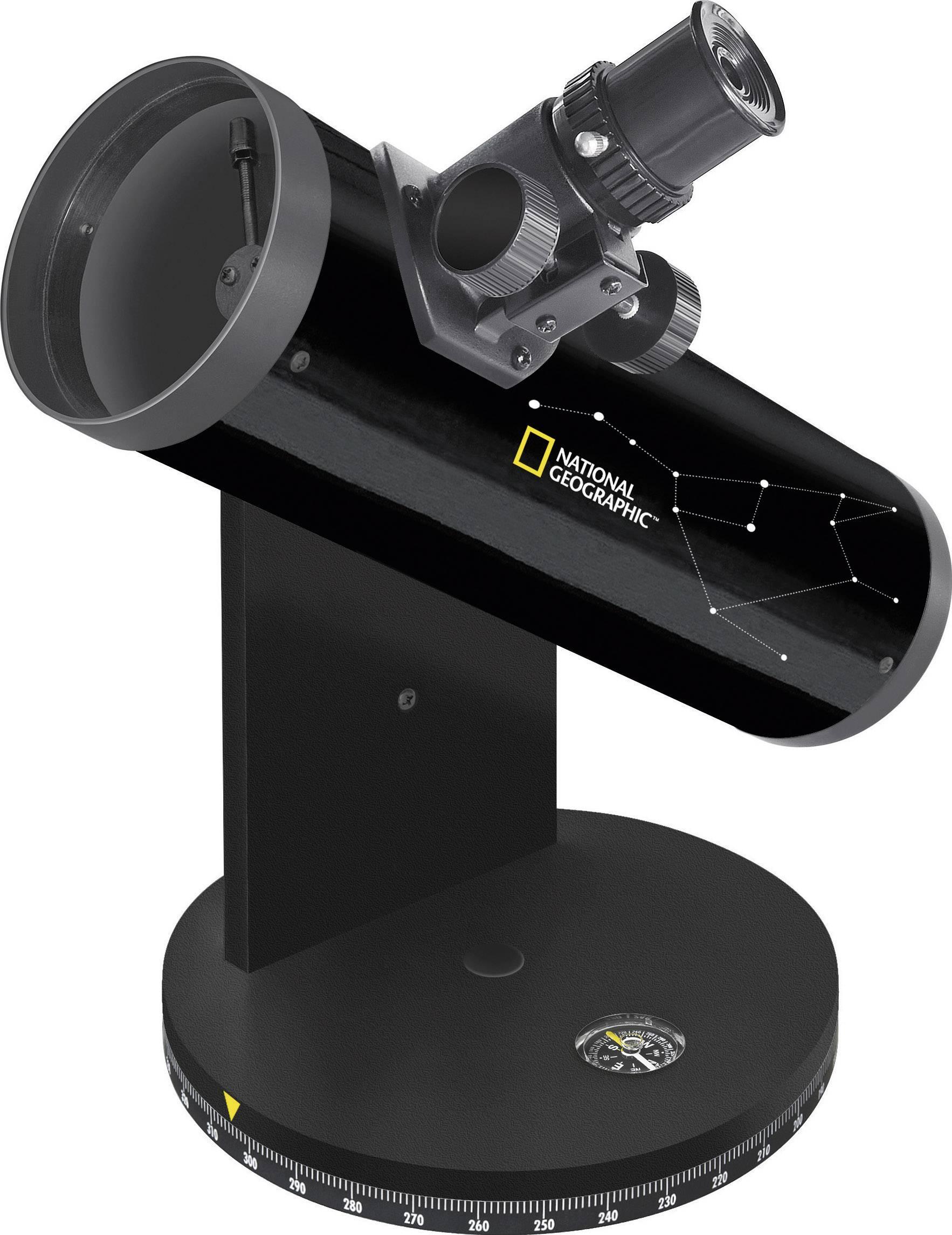 Hvězdářský teleskop National Geographic 76/350, DOBSON 9015000, 18 až 117 x