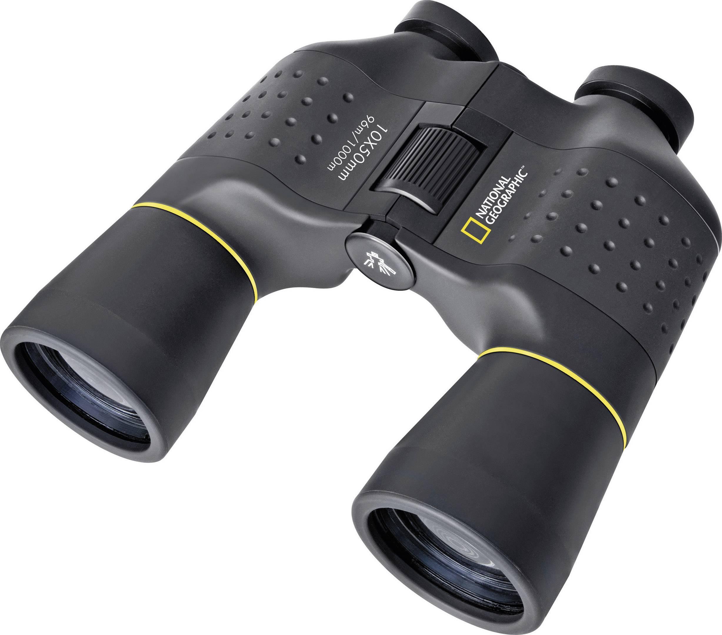 Porro-prizmatický ďalekohľad National Geographic Porro, 10x 50 mm, čierna