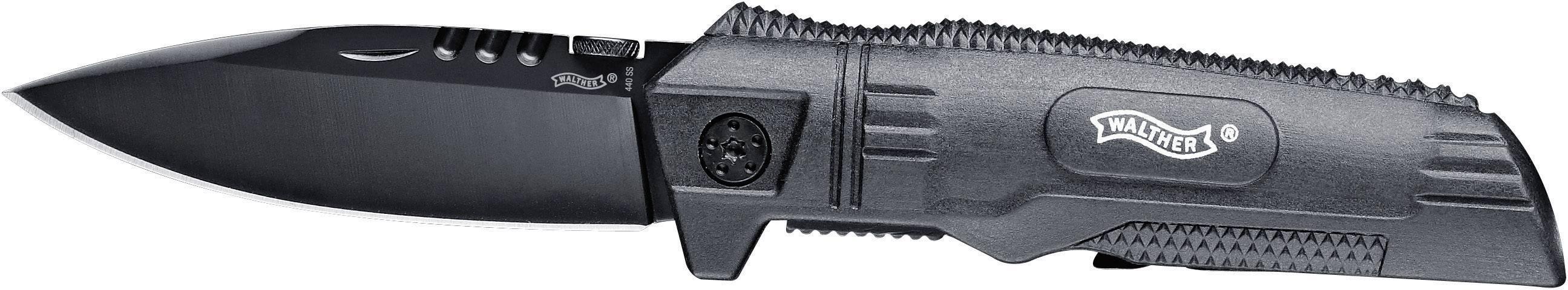 Outdoorový nôž Walther SubCompanionKnife SCK 5.0719, čierna