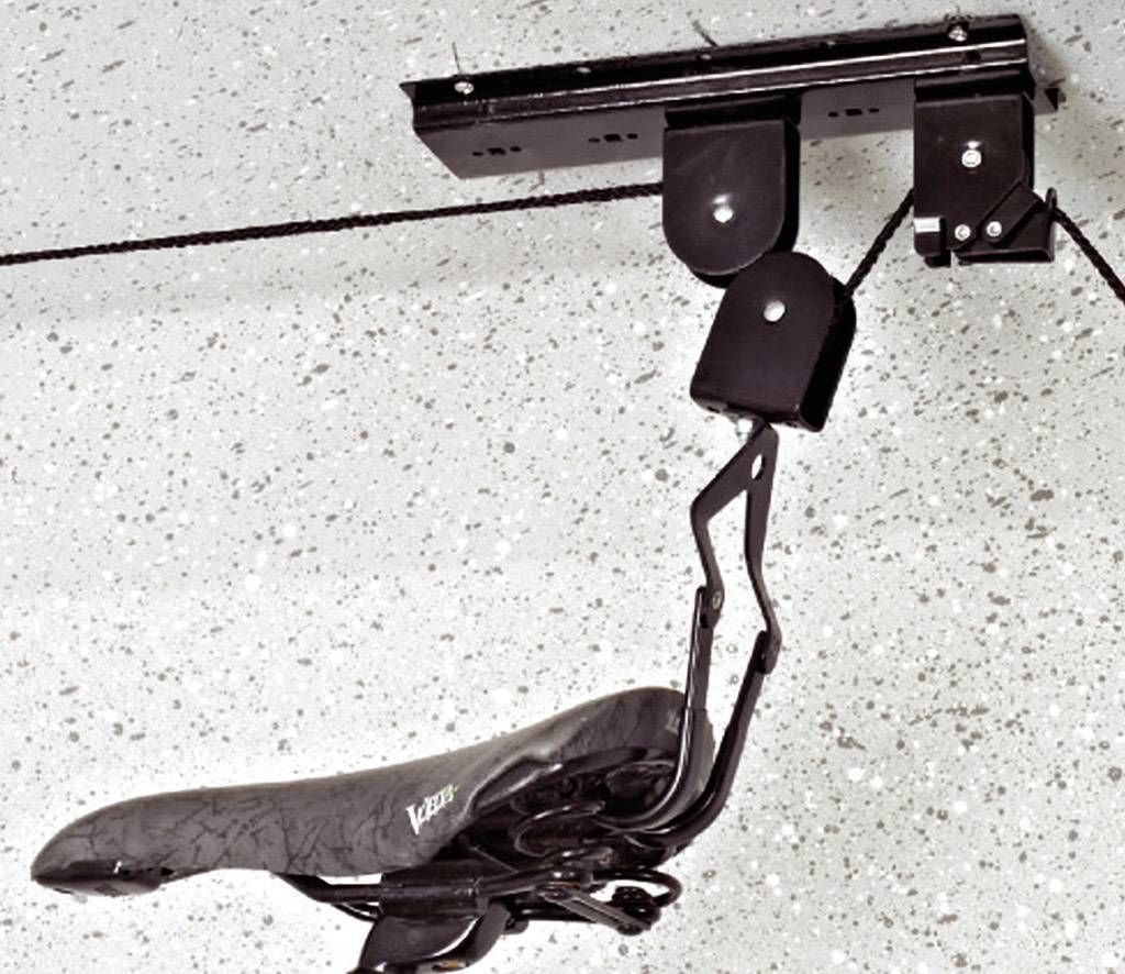 Stropní držák na jízdní kolo Eufab 16411, ocel, černá