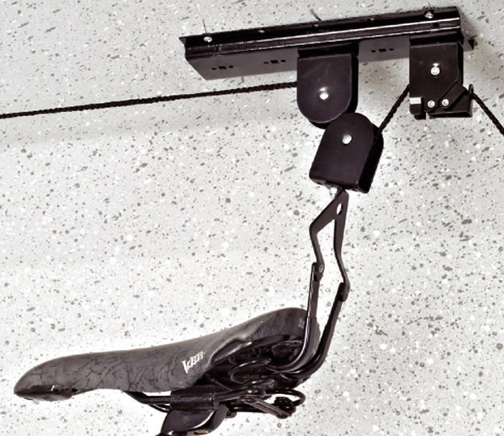 Stropný držiak na bicykel zdvíhací Eufab 16411, oceľ, čierna