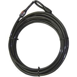 Ocelové lano s oky Security Plus 0289, (Ø x d) 10 mm x 10000 mm, černá