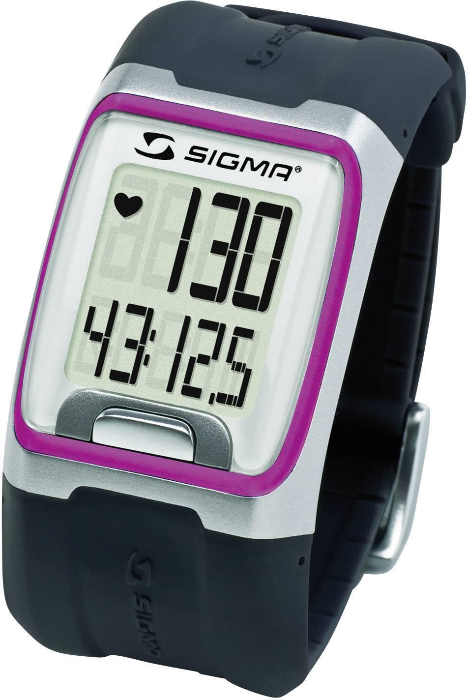 Hodinky s meraním pulzu sporttester Sigma PC 3.11, ružové