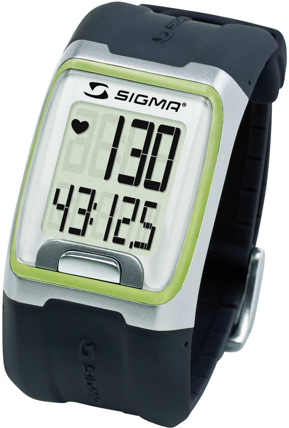 Hodinky s meraním pulzu sporttester Sigma PC 3.11, zelené
