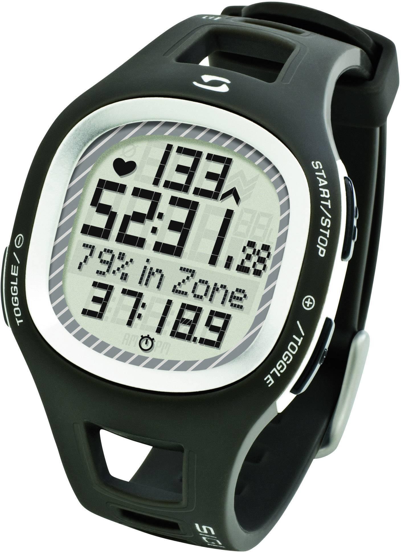 Hodinky s meraním pulzu sporttester Sigma PC 10.11, šedé