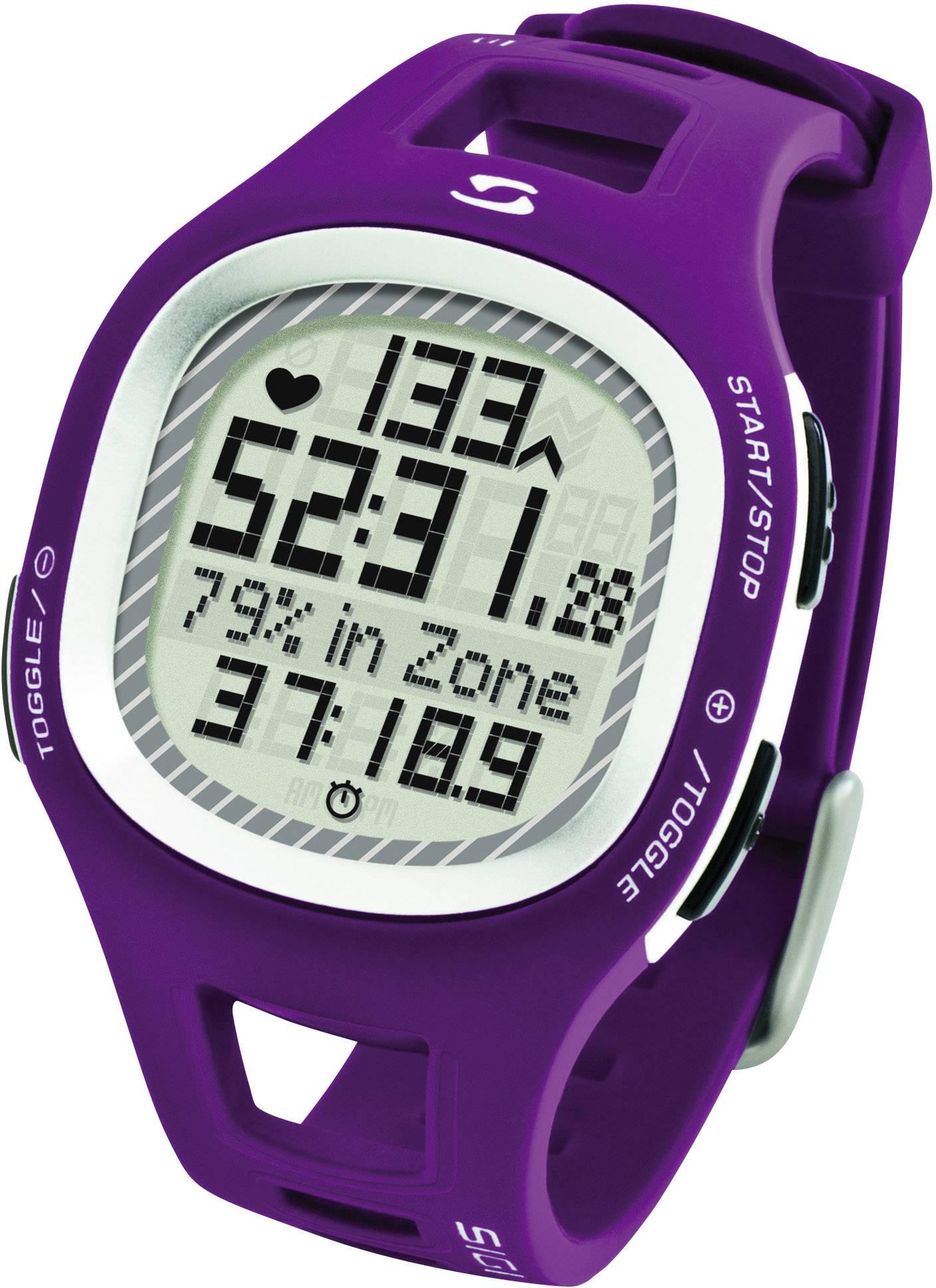 Hodinky s meraním pulzu sporttester Sigma PC 10.11, fialové