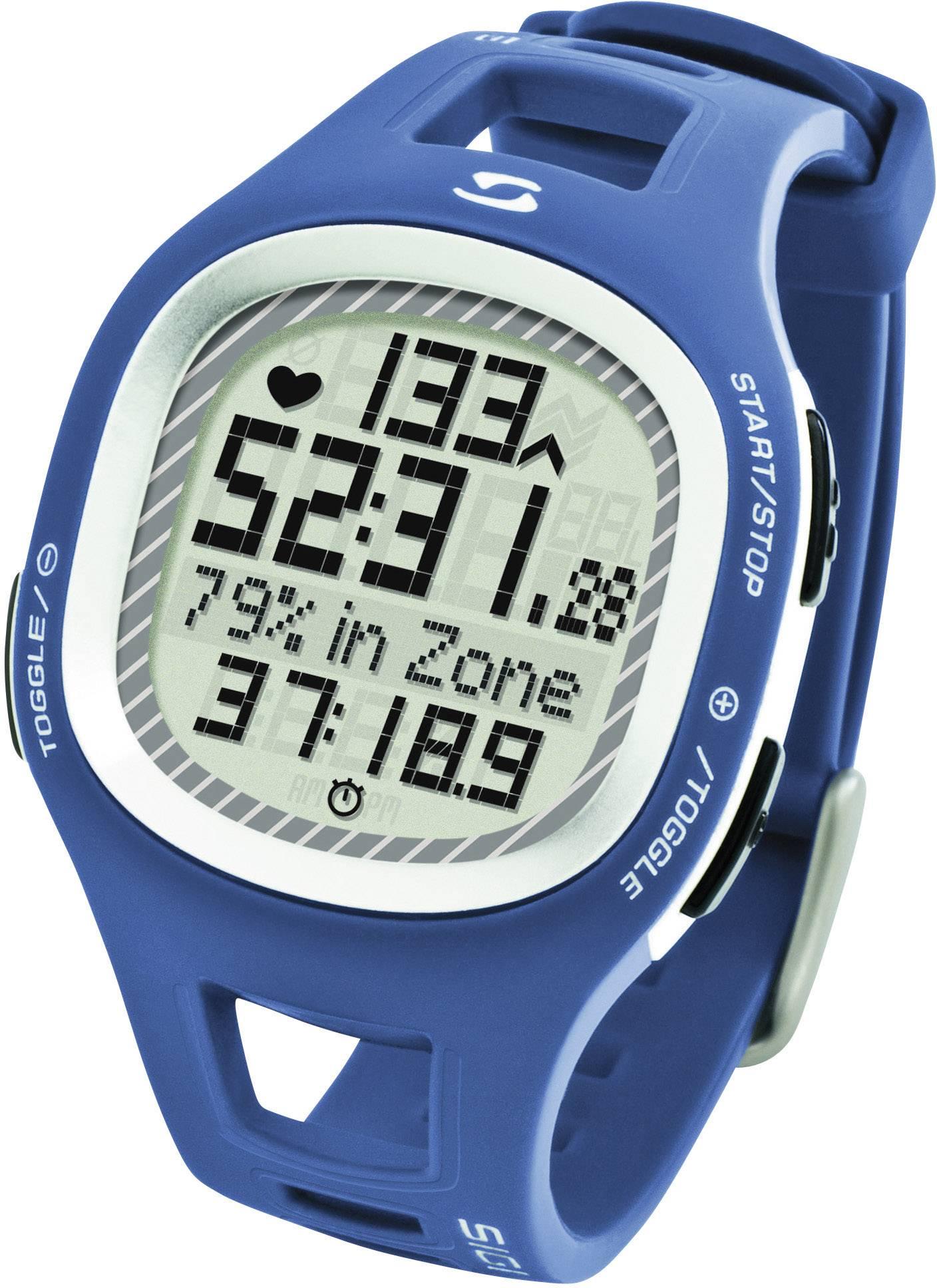 Hodinky s meraním pulzu sporttester Sigma PC 10.11, modré