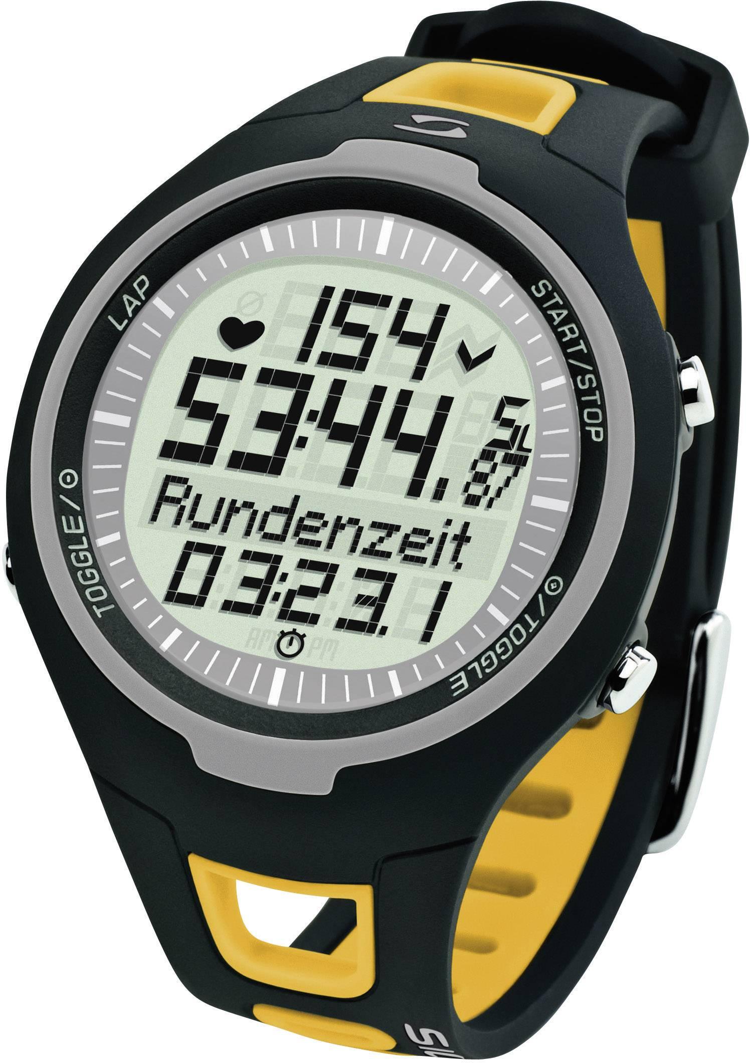Hodinky s meraním pulzu sporttester Sigma PC 15.11, žlté