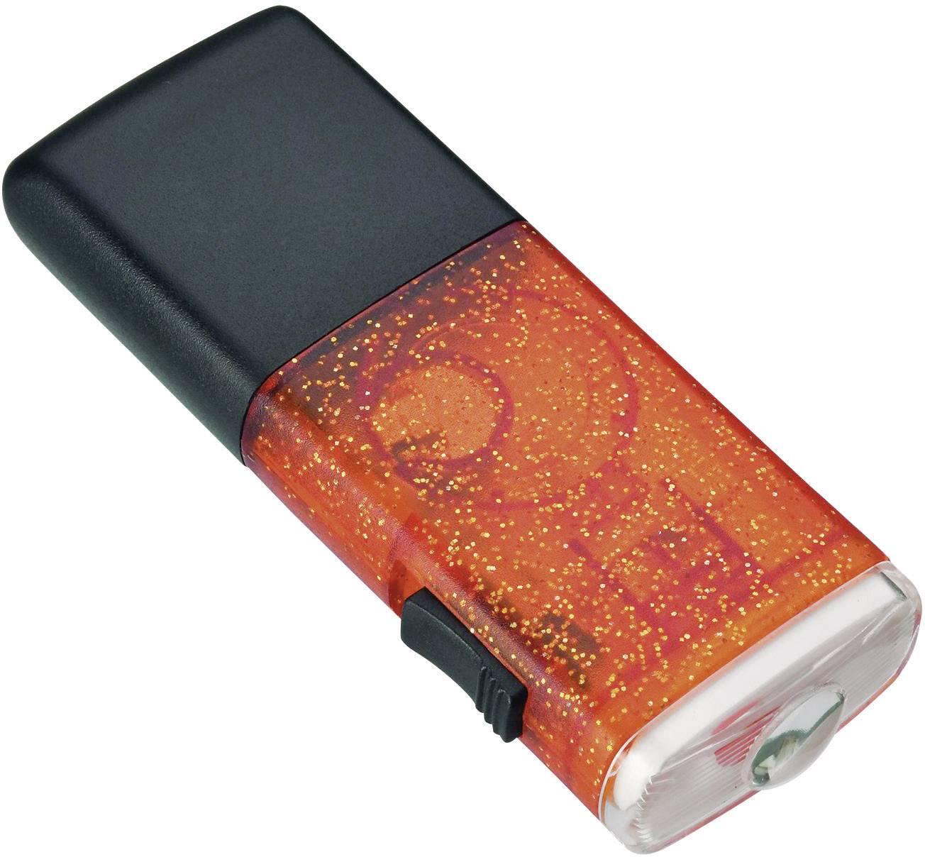 Vreckové LED svietidlo AccuLux Akku Joker, oranžové