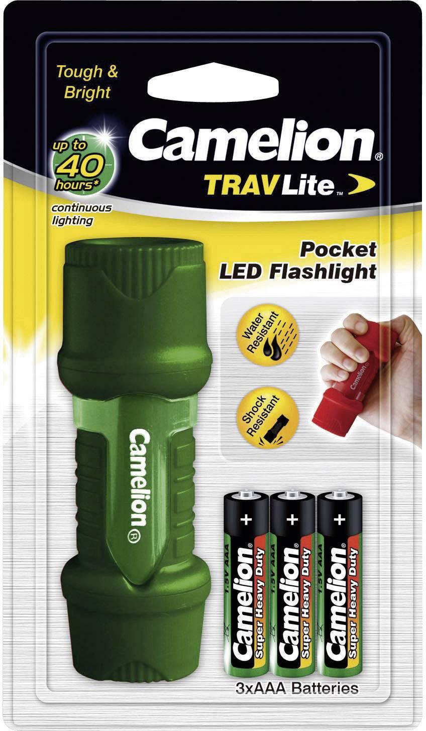 Mini LED svietidlo Camelion TravLite HP7011, zelená/červená