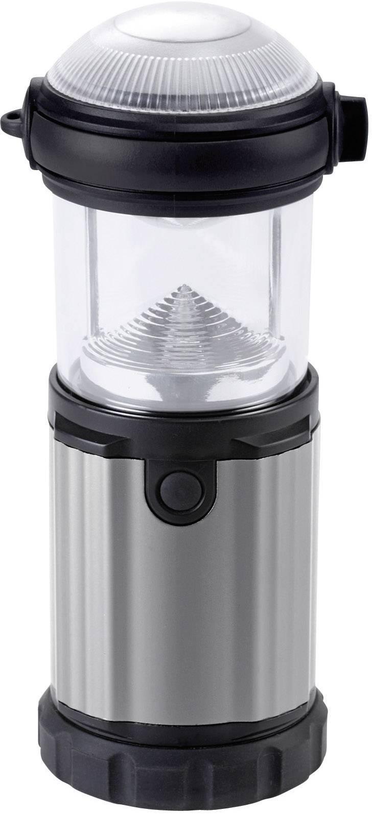 Kempingová svítilna Ampercell Montana, černá/stříbrná