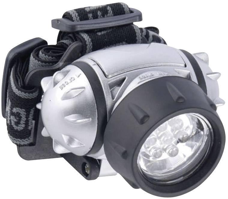 LED čelovka Grundig 38692, na batérie, 120 g, strieborná