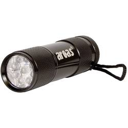 Hliníkové LED svietidlo, 9 LED+3 x AAA
