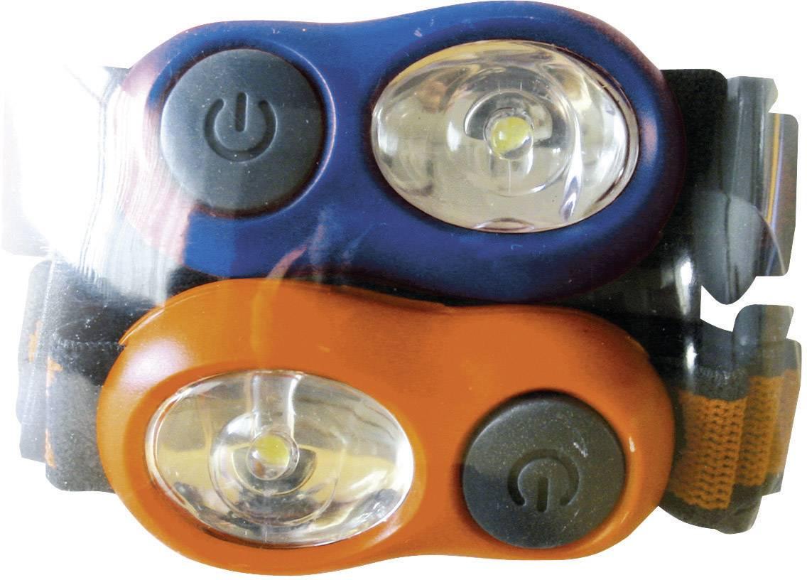 Detská LED čelovka Energizer HDL2BUI 629030, na batérie, 34 g, sada 2 ks, modrá, oranžová