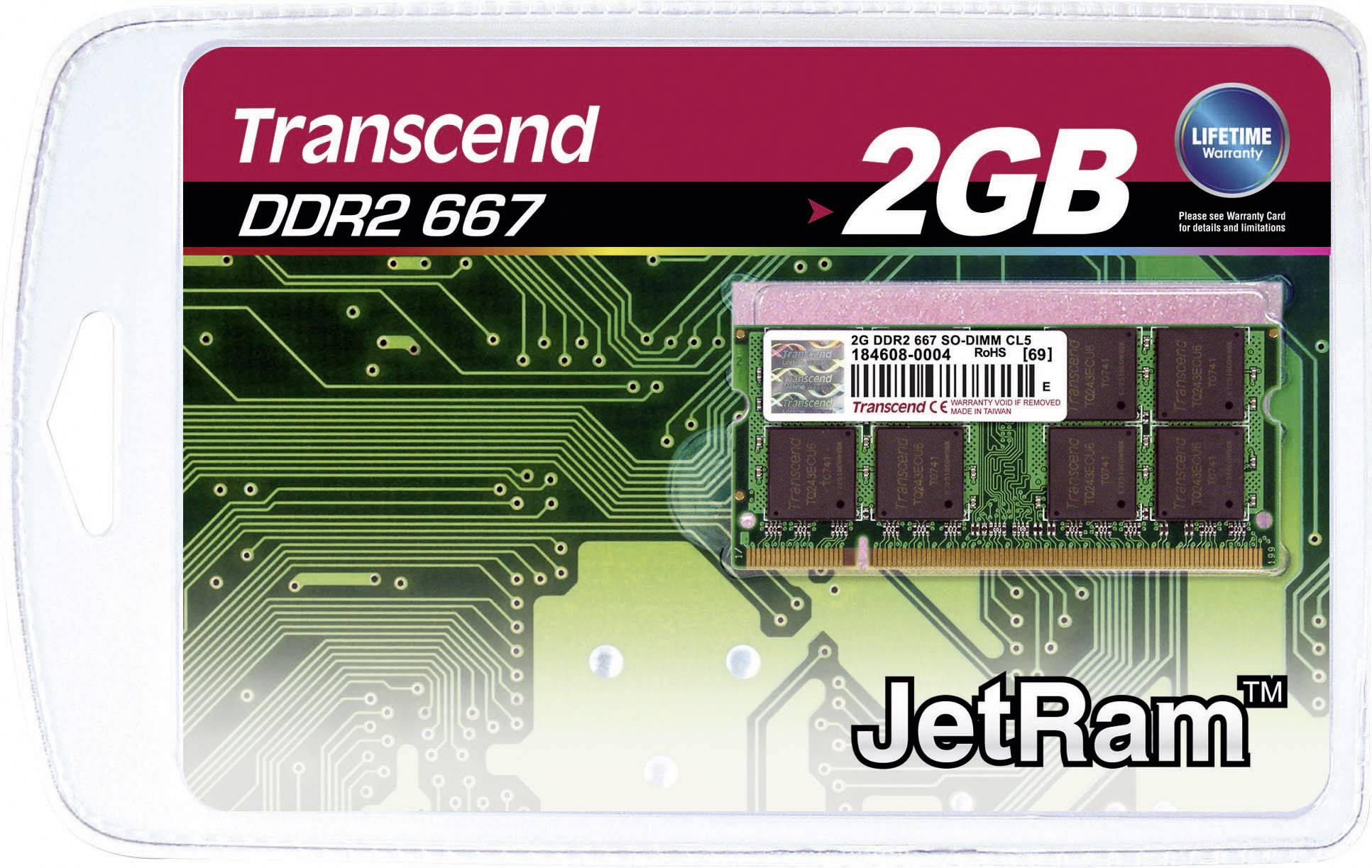 Karta Transcend 2GB SO-DIMM DDR2-RAM-667MHZ