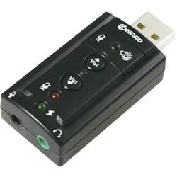 7.1 externí zvuková karta Renkforce externí konektor na sluchátka, externí ovládání hlasitosti