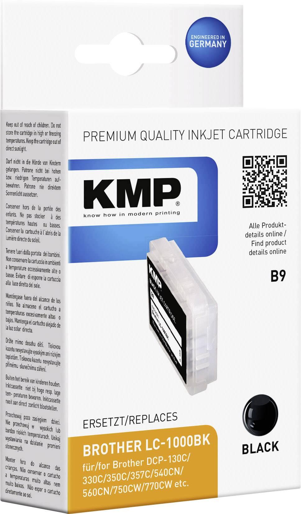 Cartridge KMP B9 = BROTHER LC-1000, 1035,0001, černá