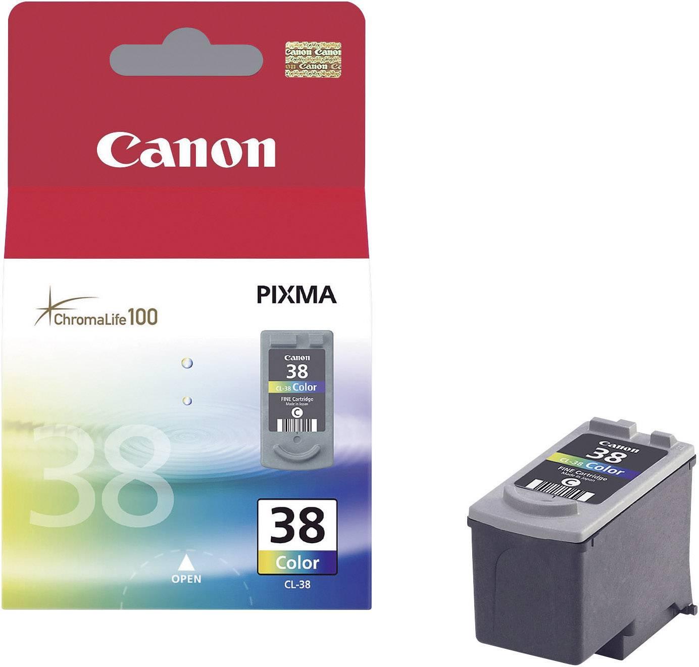 Náplň do tlačiarne Canon CL-38 2146B001, zelenomodrá, purpurová, žltá