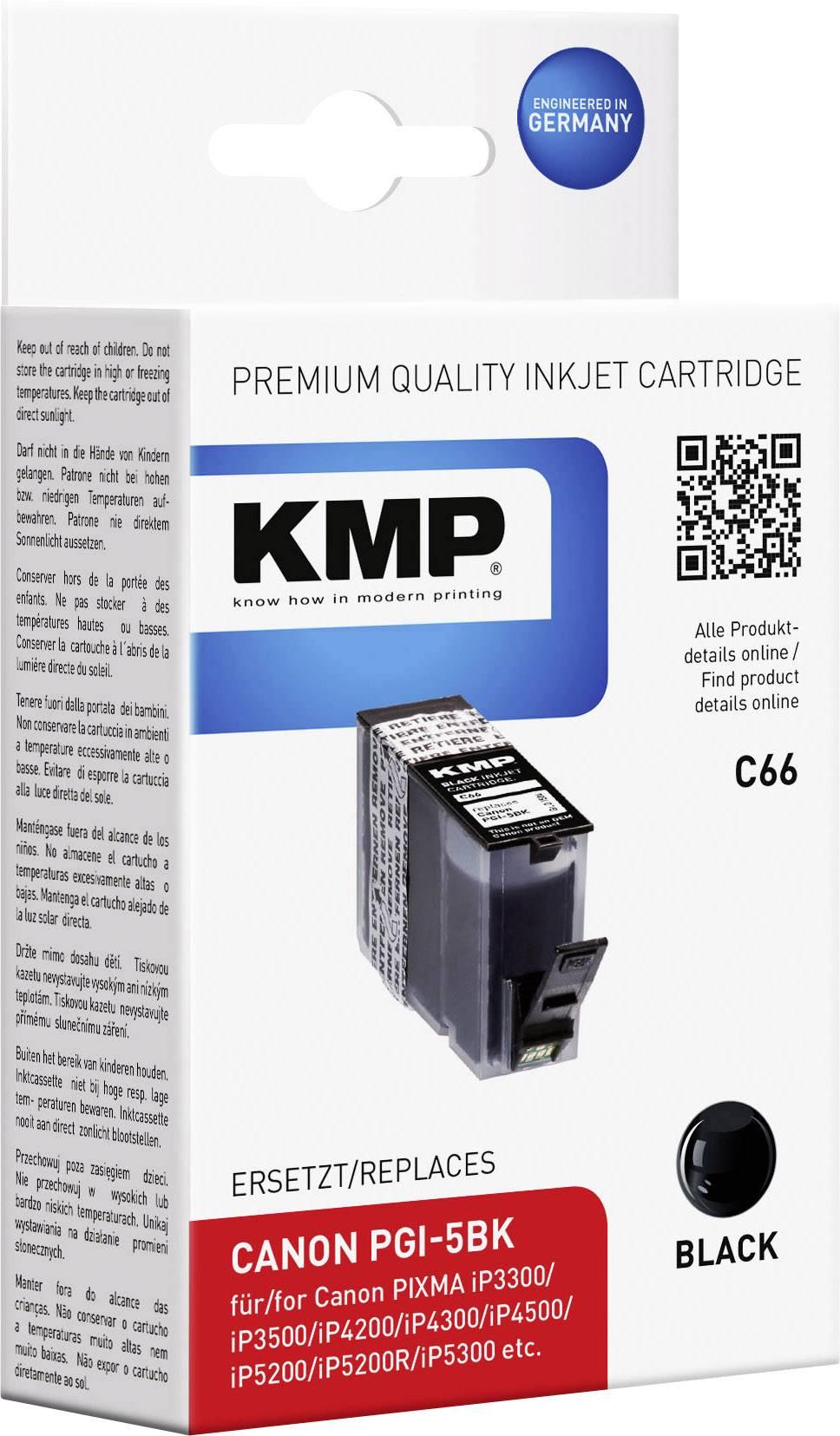 Kompatibilná náplň do tlačiarne KMP C66 1504,0001, čierna