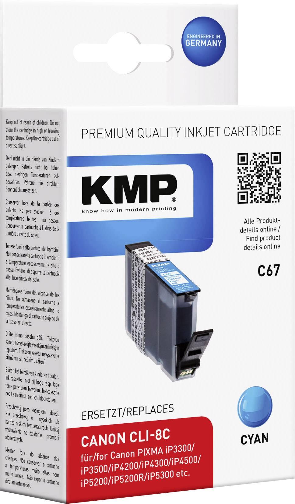 Kompatibilná náplň do tlačiarne KMP C67 1505,0003, zelenomodrá