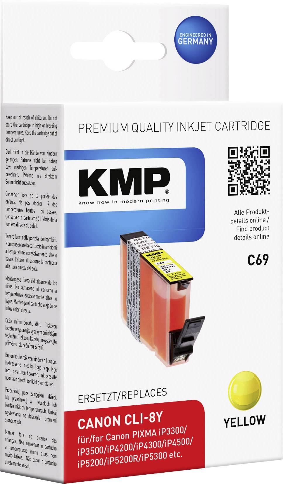 Kompatibilná náplň do tlačiarne KMP C69 1505,0009, žltá