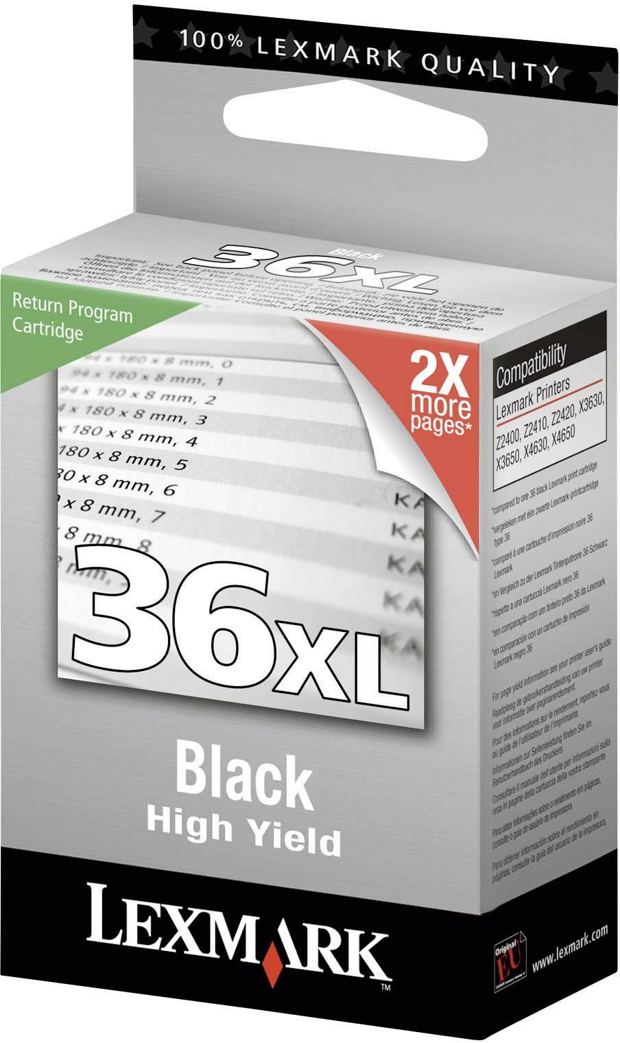 Náplň do tlačiarne Lexmark 36XL 18C2170, čierna