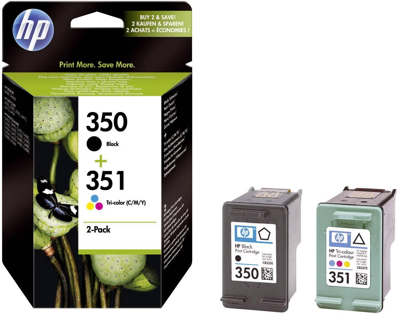 HP Ink cartridge 350, 351 originál černá, azurová, purppurová, žlutá SD412EE