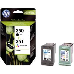 HP Inkoustová kazeta 350, 351 originál černá, azurová, purppurová, žlutá SD412EE