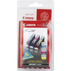 Canon Inkoustová kazeta CLI-521 CMY originál kombinované balení azurová, purppurová, žlutá 2934B010