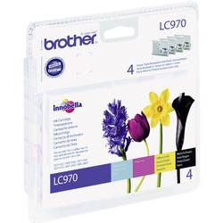 Brother Ink LC-970 originál kombinované balení černá, azurová, purpurová, žlutá LC970VALBP
