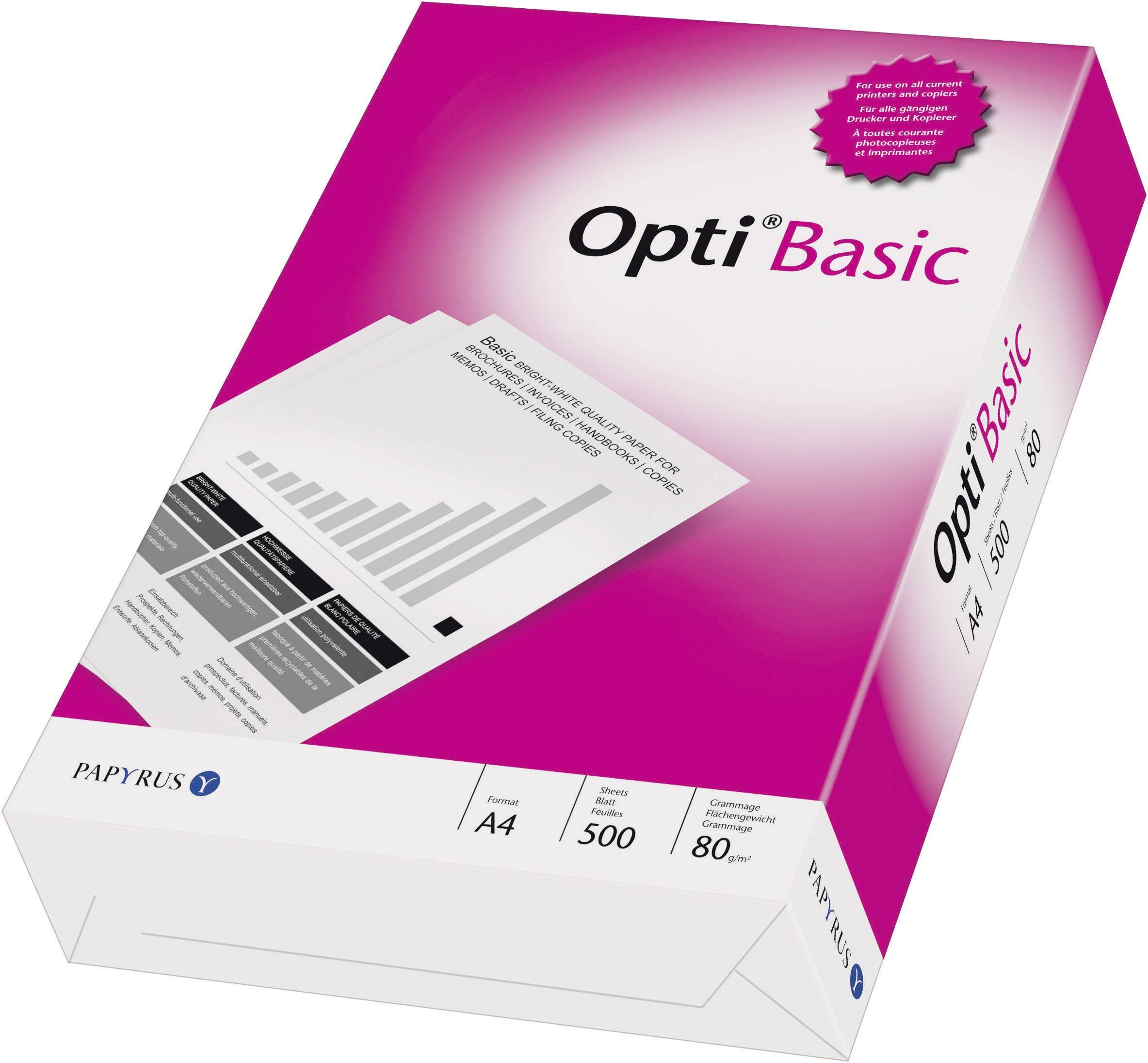 Univerzálny papier do tlačiarne Papyrus OPTI (R) Basic 88081823 DIN A4 80 gm2 500 Sheet biela