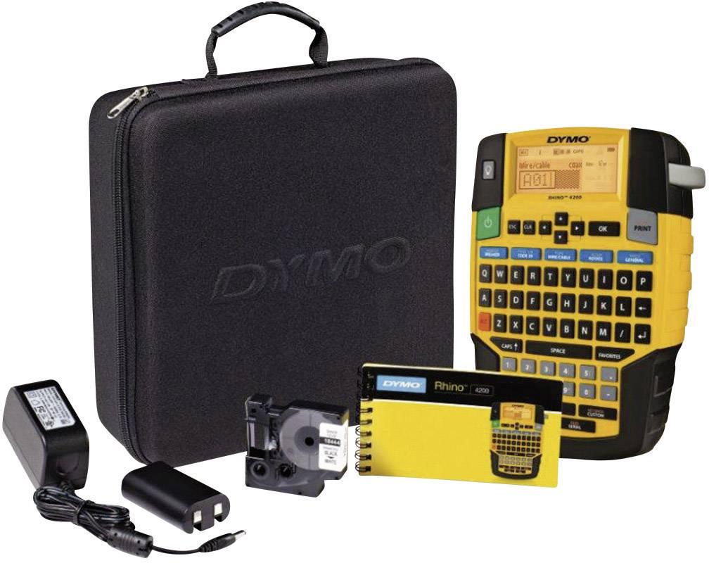 Štítkovač Dymo Rhino 4200 + akumulátor, adaptér, kufřík