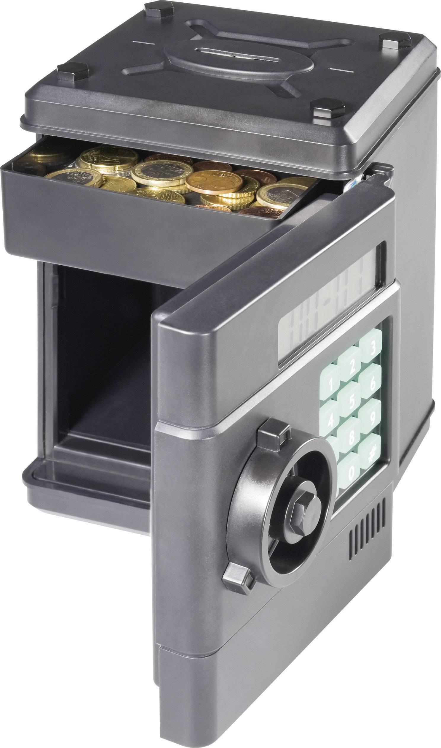Pokladnička s digitálnym počítadlom EURO mincí
