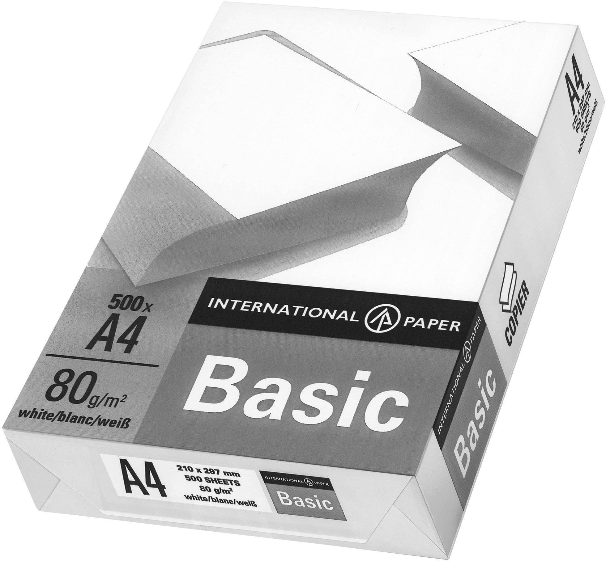 Univerzálny papier do tlačiarne International Paper IP Basic, 88070920 A4, 80 gm², 500 listov