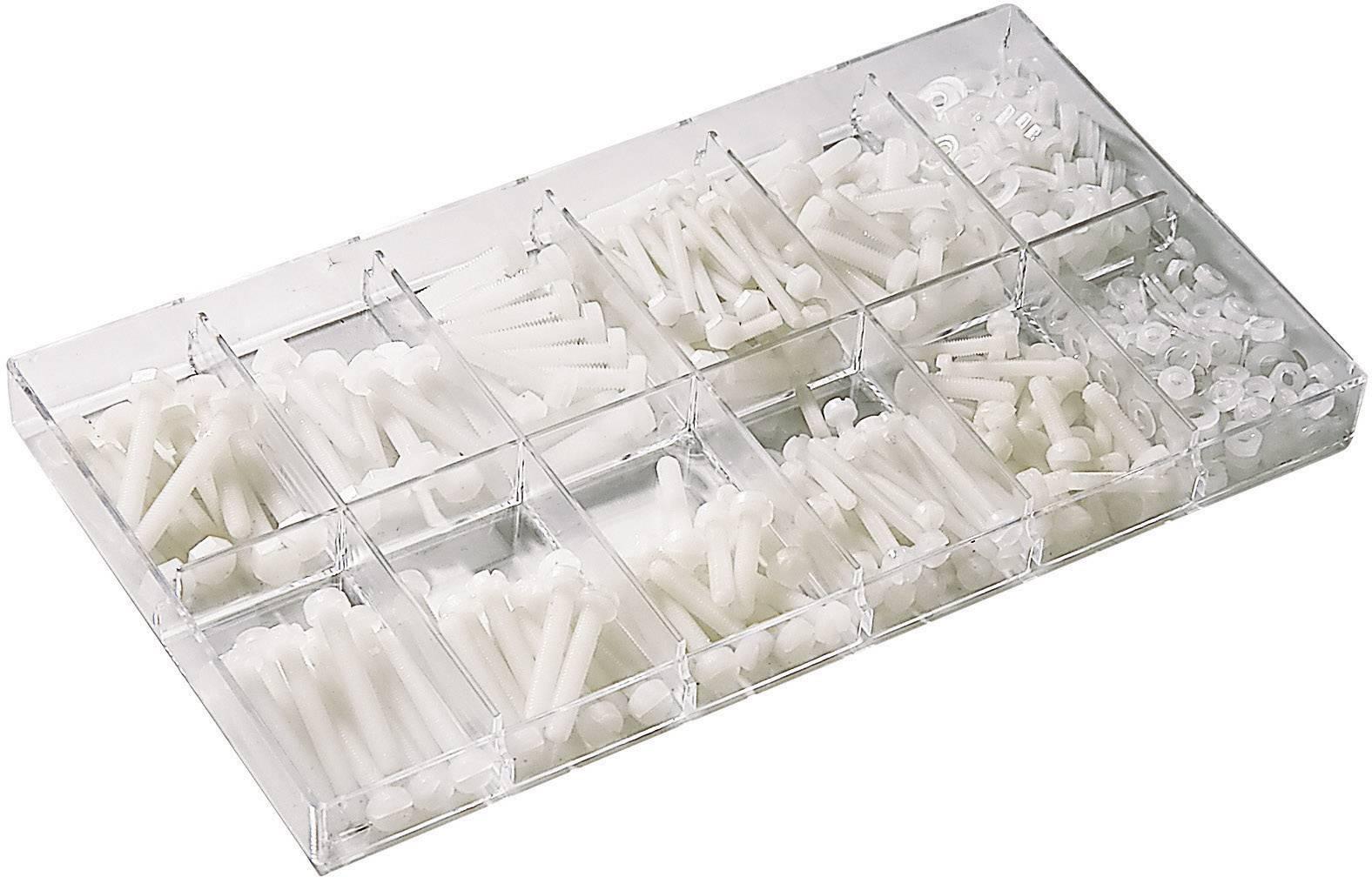 Sada polyamidových šroubů s válcovou hlavou, 420 ks