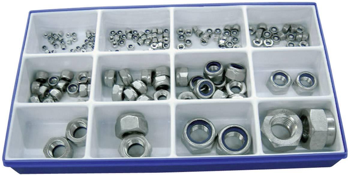 Sada bezpečnostních matic, nerez ocel, DIN 985, 161 ks